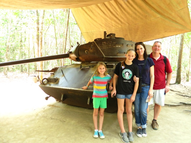 A US Army tank abandoned near the Cu Chi Tunnels.