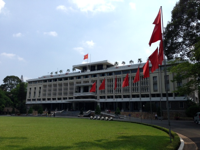 This is a picture of the Reunification Palace.