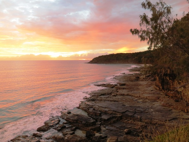 A sunrise in Noosa Heads.