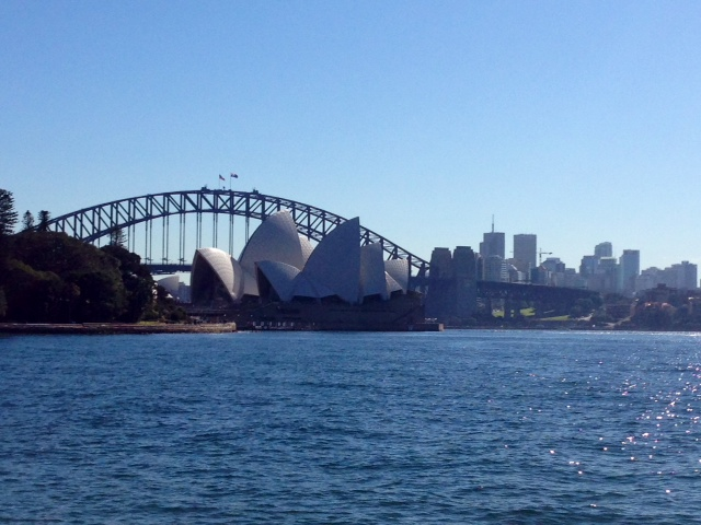 Sydney's city jewels, dominating the bay.