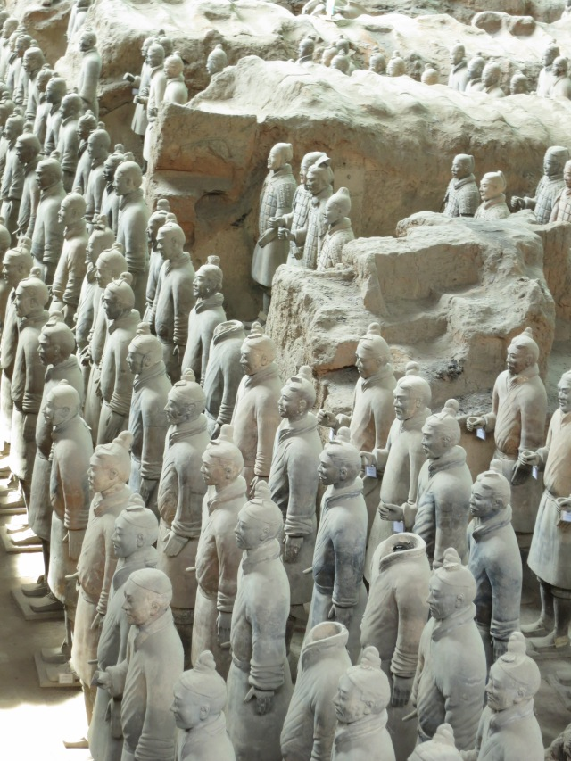 We flew to Xi'an, with a day trip tour, just to see the The Terracota Soldiers.  It is one of the most significant archeological finds in history.  These soldiers and horses were created and buried to guard and protect China's first unifier, Quin Shi Huang, in his afterlife.   The Terracota Soldiers are amazing works of art.