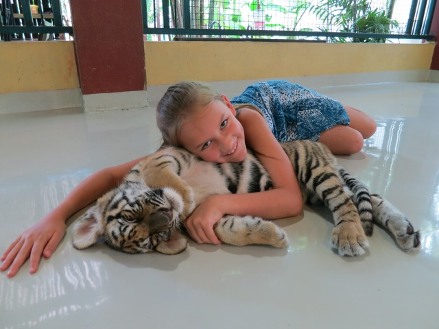 Kylee with tiger