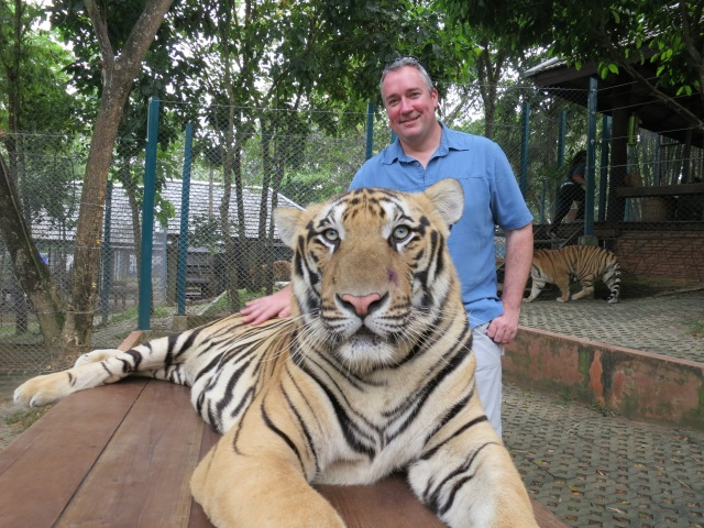 Chris with tiger