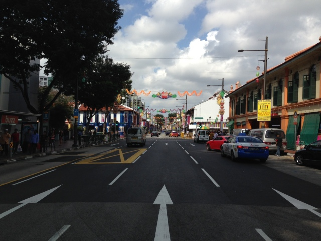 The street that leads into Little India.