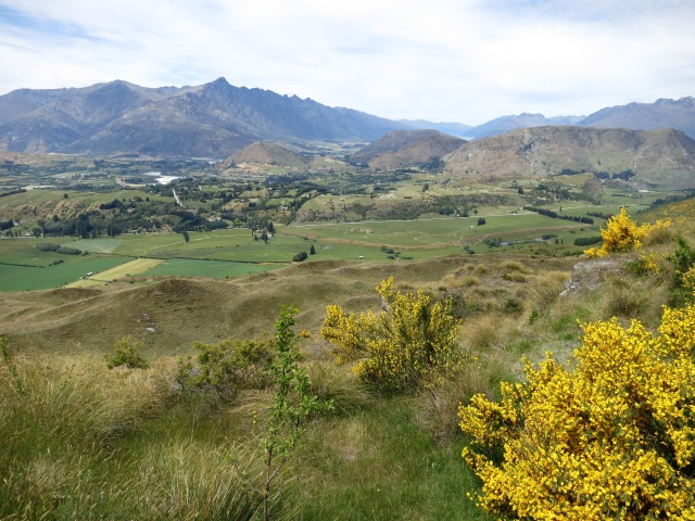 A view of Queenstown from a pass leading into Skippers Canyon.