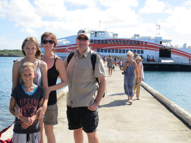 We took a two-and-a-half hour ferry ride from Noumea to the island. Our tour guide, Jeankri, took this photo right after we arrived on the island and met up with him. His calm, relaxed demeanor exemplified the locals perspective of life on the island -