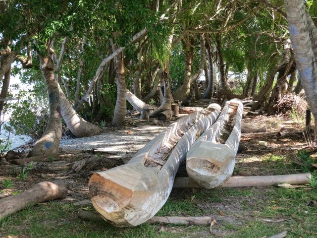An alcove near the Bae de Saint-Joseph, where locals continue to build traditional canoes.