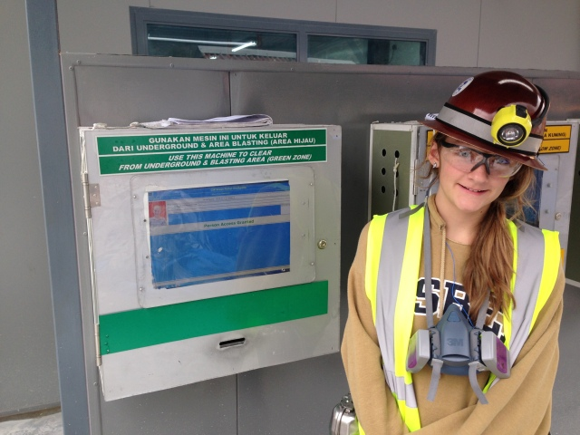 Before they went underground, they had to check in using a tracking system, so the mine rescue team knew to look for them if there was an emergency. Ally was relieved when she checked out after the tour.