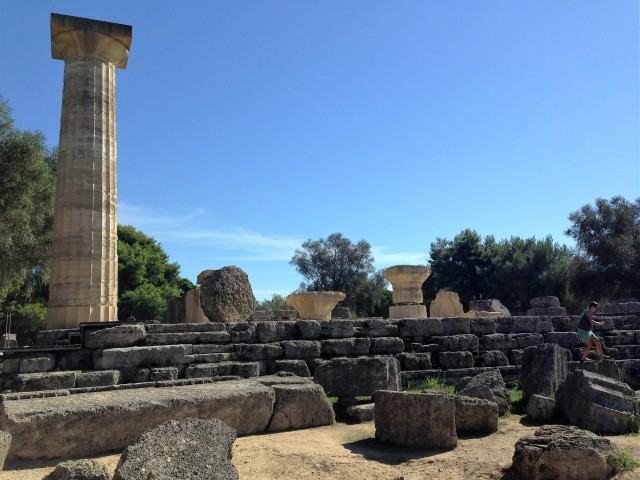 Ruins of the Temple of Zeus.