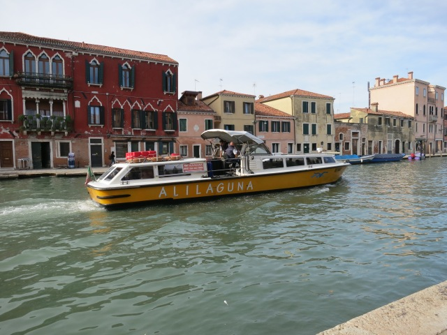 When we arrived in Italy, we took the Alilaguna (a water shuttle) from the mainland airport in Mestre to Venice.